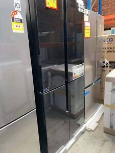 Brand new CHIQ 462L 4 black glass doors fridge with 3yrs warranty