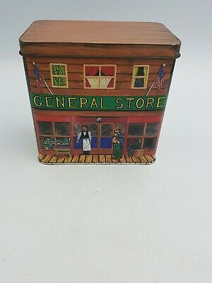 """Local Party Store (VTG SILVER CRANE COMPANY TIN """"GENERAL STORE"""" AMERICAN WILD WEST LOCAL)"""