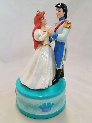 Vintage 1988 Disney The Little Mermaid Music Box w/ Dancing Eric & Ariel WORKS