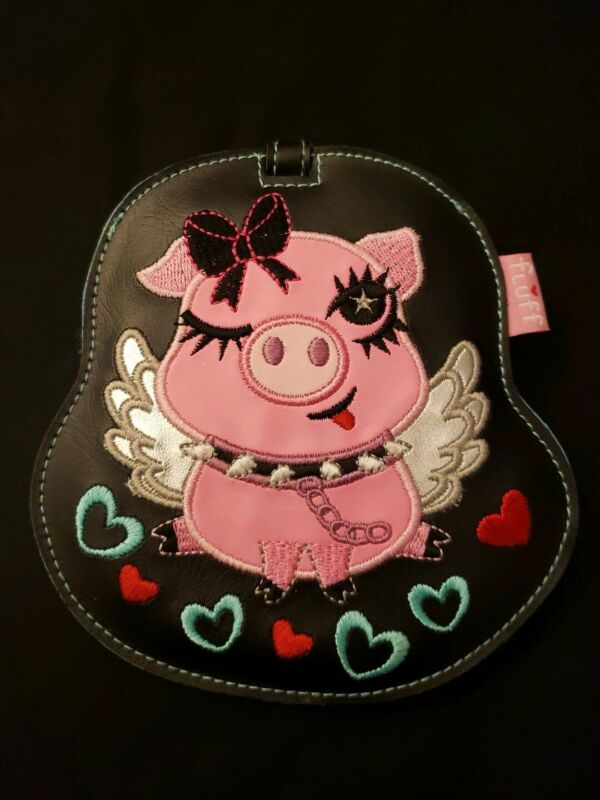 Fluff Piggy Luggage, Backpack, Crate ID Tag