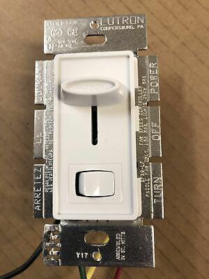 Lutron Skylark SFSQ-LF-WH Ceiling Fan Speed Dimmer Light Switch Control WHITE Dimmer Fan Speed Control