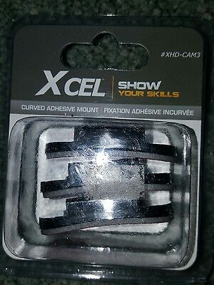 Brand New X Cel  Flat Adhesive Mounts  Xhd Cam3  Xcel 3 Curved Adhesive Mounts