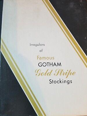 Vtg Gotham Gold Stripe Stockings Average Soft Shadow fits 9.5-10 3 (Gold Shadow Stripe)
