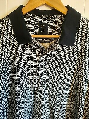 Nike Golf Mens Small Polo Shirt Short Sleeve Retro Navy Blue