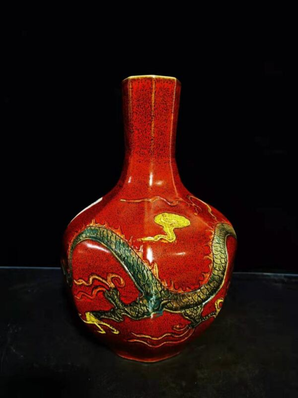 Chinese Vintage Porcelain Handmade Exquisite Vase 60052