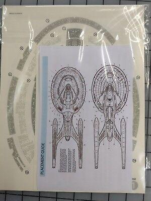 1/1400 Acreation aztec decals for AMT enterprise E model kit star trek