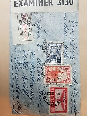 1941 Airmail envelope from Argentina to London via New York and Miami.