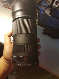 Near BRAND NEW Sigma 100-400mm lens Canon mount
