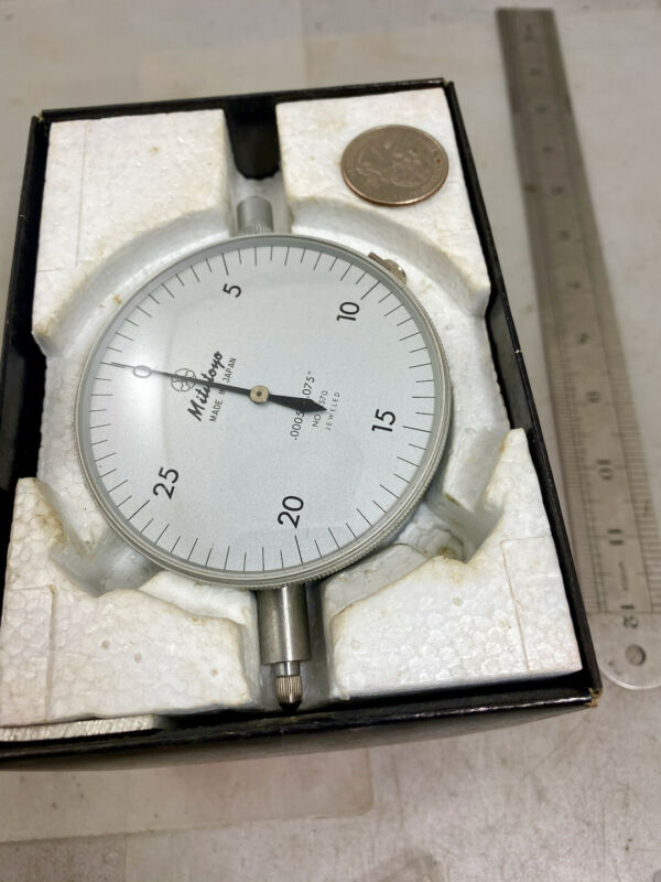 MITUTOYO DIAL TEST INDICATOR 3570 Large Face, In Box, FREE SHIPPING!