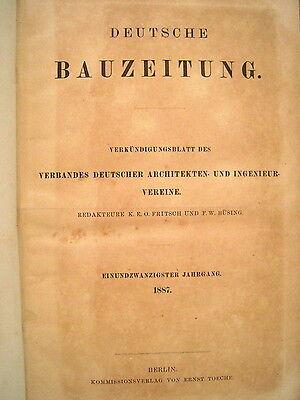 Deutsche Bauzeitung 21. Jahrgang 1887 Heft 1 - 103 fest gebunden RAR