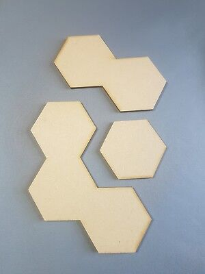 Blank MDF hexes suitable for Shadespire