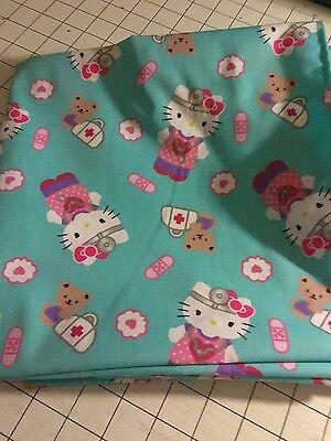 52x22 Standard Daycare cot sheet 1 hello kitty nurse  print
