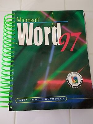 Used Microsoft Word 97 Nita Hewitt Rutkosky User Specialist Office Courseware