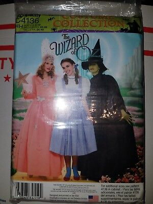 Simplicity Wizard of Oz Dorothy Glenda Wicked Witch costume pattern C4136 [New] - Dorothy Wizard Of Oz Costume Pattern