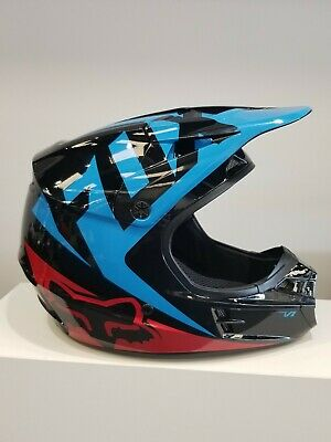 FOX HELMET V1 RACE BLUE/RED/BLACK 2XL