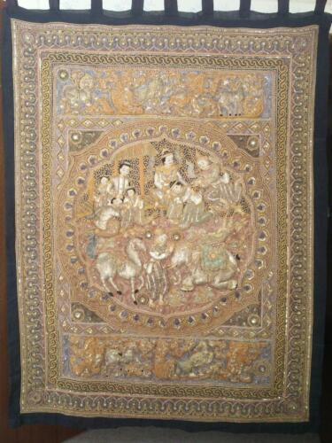 Large Vintage Tapestry Burma, Kalaga # 327