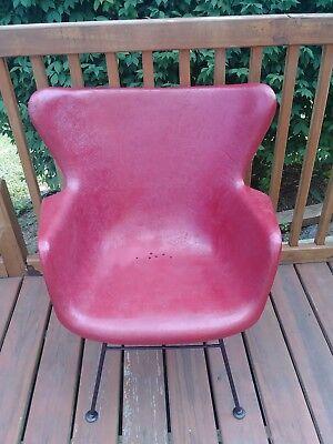 Vintage Retro Mcm Lawrence Peabody Wingback Fiberglass Chair