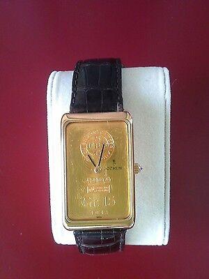 corum 15gr gold ingot watch - manual movement - swiss made