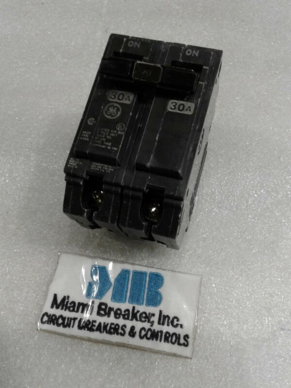 THQB2130 GENERAL ELECTRIC CIRCUIT BREAKER 2 POLE  30 AMP 240 VAC NEW!!