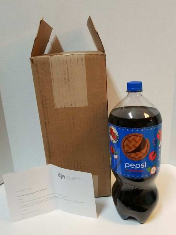 RARE New Pepsi Apple Pie - 2 Liter Promo Limited Edition Promotion 1500 Produced