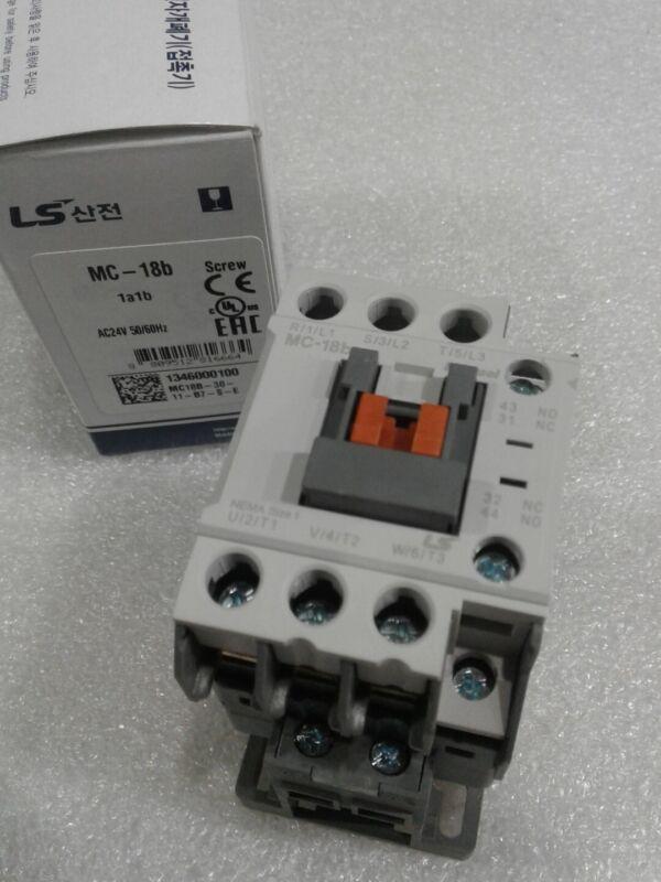 MC-018b/3-24 LS Metasol Contactor 3Pole 40A AC1 18A AC3 COIL 24VAC NEW IN BOX!