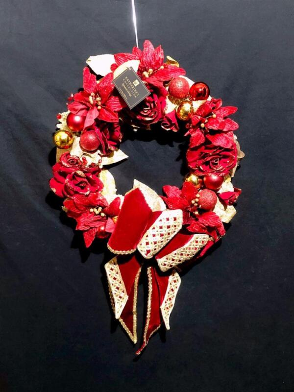 Katherine's Collection Rare Holiday Cheer Christmas Wreath w Bow - 28-828221
