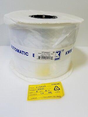 Lk Plastics 2500 Roll 6 In X 6 In 1.4 Mil Linear Ld Poly Auto Kwik-fill Bags