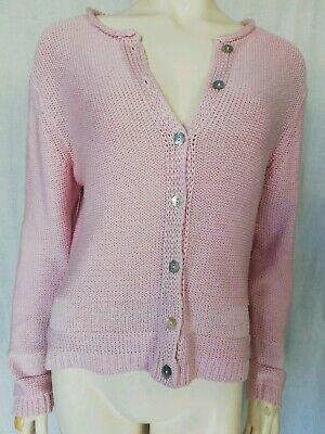 öne Damen Strickjacke Größe 42 rosa Damenjacke Jacke (Rosa Damen-jacken)