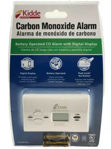 KIDDE 9000146LP Carbon Monoxide Alarm, Electrochemical