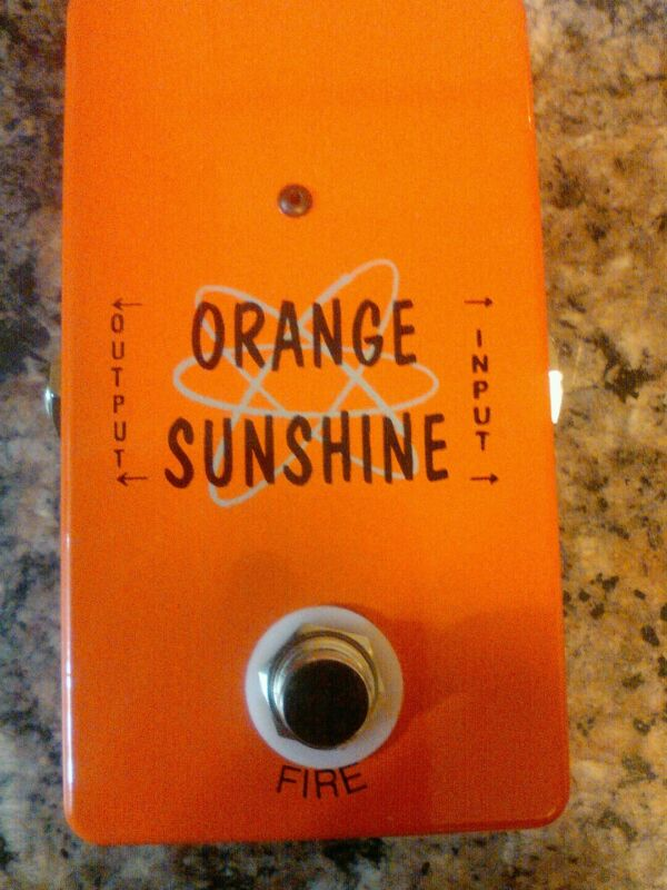 Orange Sunshine distortion pedal