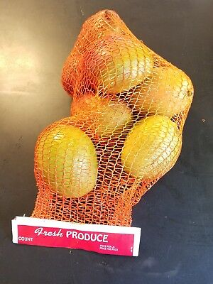 Lot Of 50 25 Orange Reusable Nylon Poly Mesh Produce Net Onion Potato Etc Bag