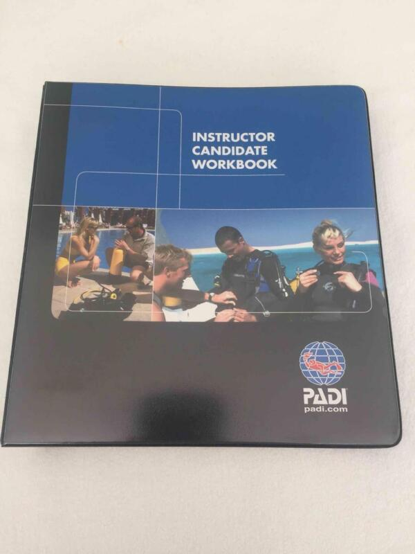 PADI Instructor Candidate Workbook with Required Decal in Binder - USED