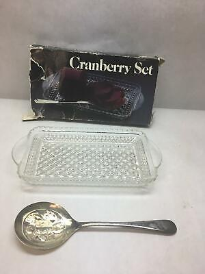 VTG Leonard SILVER MGF Pressed GLASS Cranberry SET SILVER Plated SPOON (Glass Silver Plated Spoon)