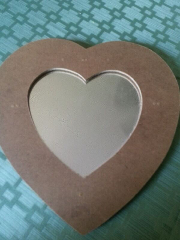 """Small Heart shaped mirror for crafting/decorating - 5 3/4"""" across and tall"""