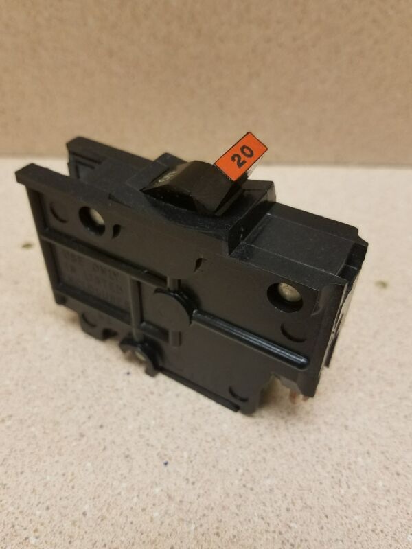 FPE 20 Amp 1-Pole Stab-Lok Type NA (Thick)   Federal Pacific Breakers NA120