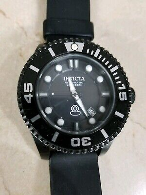 New Mens Invicta 19810 Pro Diver Automatic Black Stainless Steel 47mm Watch
