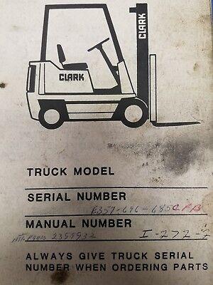 Clark Forklift E357 Parts Manual