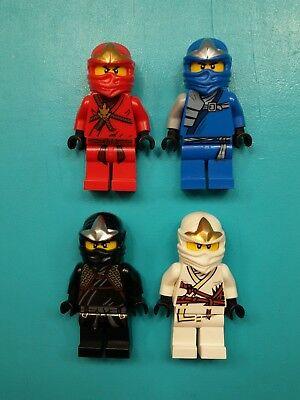 Lego Ninjago Lot of 4 Minifigures Jay Cole Zane Kai Ninjas! (V3)