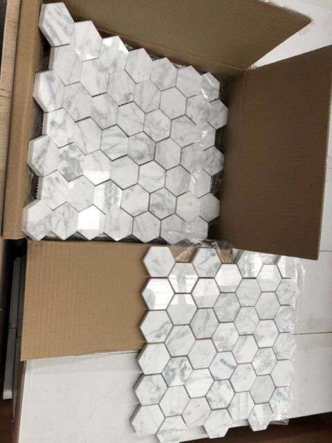 Carrara White Marble Mosaic 300x300mm Building Materials