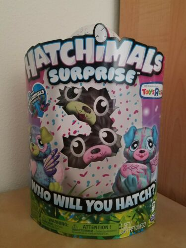 BRAND NEW Hatchimals Surprise Puppadee Twins Toys R Us Exclusive BONUS NESTS