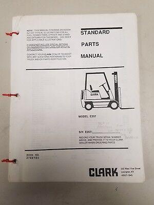 Clark Forklift E357 Standard Parts Manual