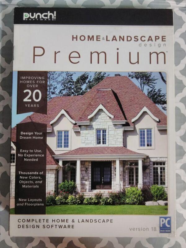 PUNCH! HOME & LANDSCAPE DESIGN PREMIUM V18 NEW!