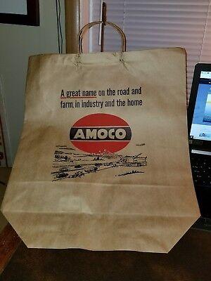 VINTAGE 1965 AMOCO GASOLINE OIL STORE BAG NEW OLD STOCK