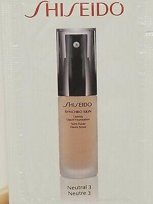 Shiseido Synchro Skin Lasting Foundation SPF 20. # Neutral 3.