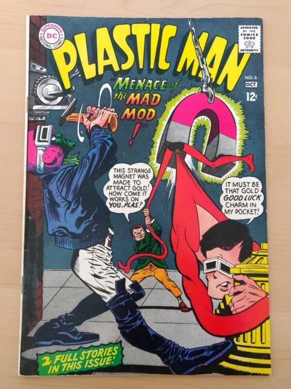 Plastic Man #6. DC Comics 1966. Fine+
