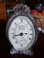 FIFTH AVENUE CRYSTAL TABLE CLOCK