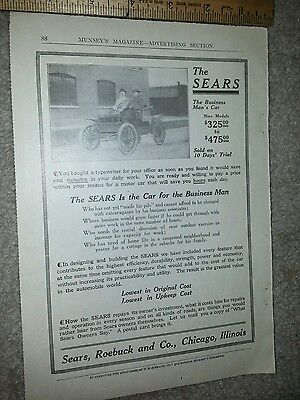 The Sears Business Man's Car Advertisement 1912 Model