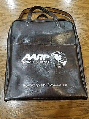Vintage Dark Brown Aarp Travel Service Bag 1970S