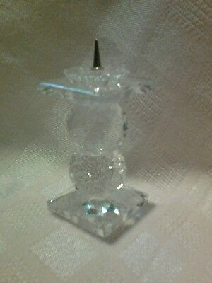 RETIRED SWAROVSKI CRYSTAL CANDLE PIN STYLE HOLDER 7600 109 BEAUTIFUL!
