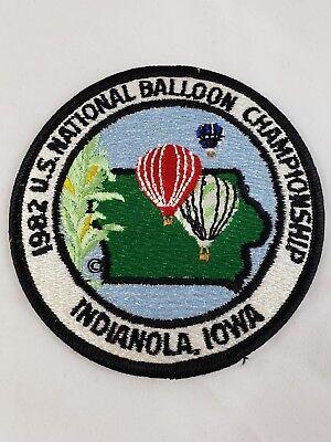 Vintage U.S. Hot Air National Balloon Championship Patch INDIANOLA IOWA IA 1982